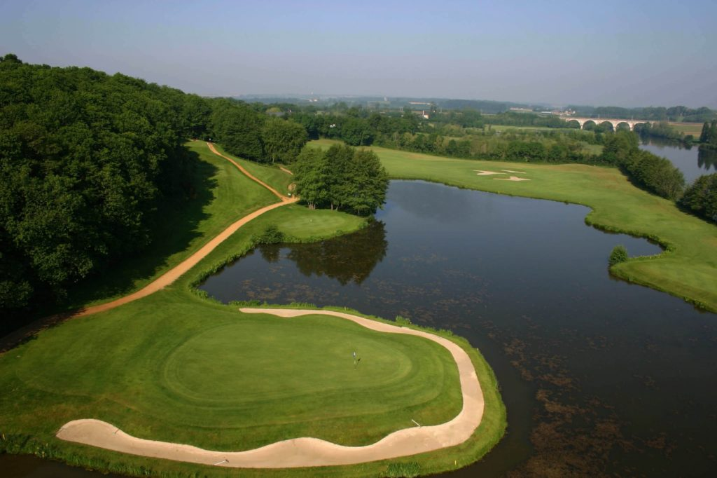 Golf-de-Sables-Solesmes green ile