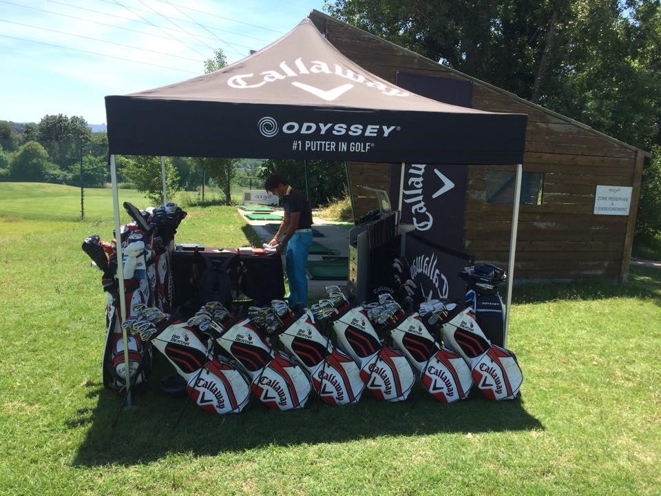 Odissey Putter Fitting Gold Demo aix Golf