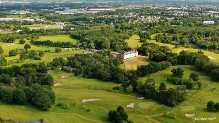 golf de Cholet à proximité de Nantes, d'Angers et tout proche de la Vendée Vue aerienne.