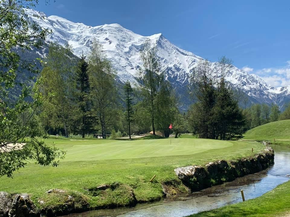 Chamonix Golf Green fairway Parcours