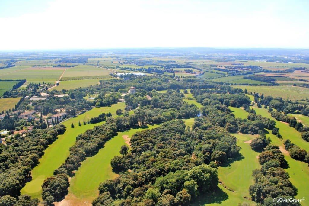 Golf Club de Nîmes Campagne Vue aerienne