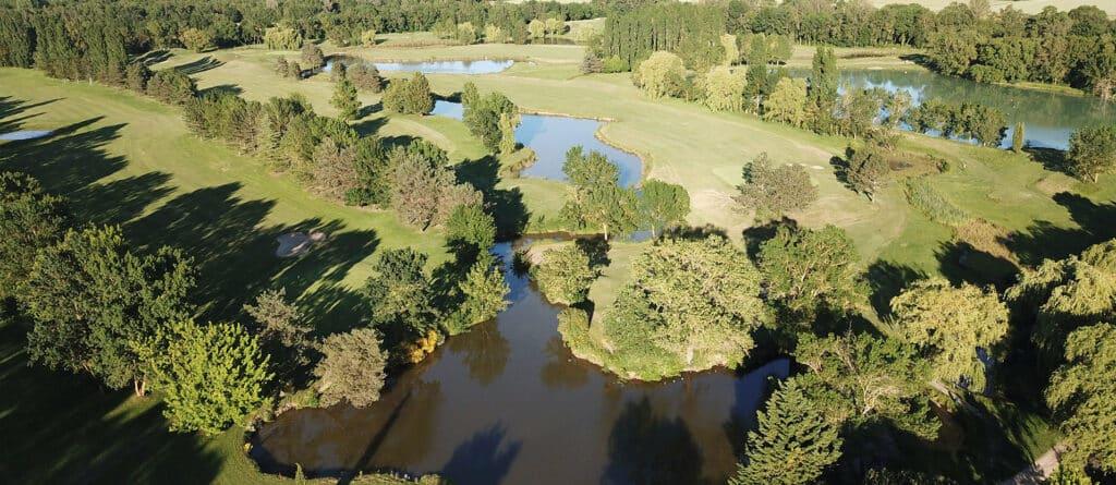 Golf Las Martines Parcours vue aerienne