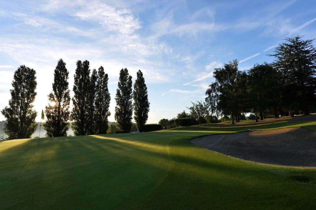 golf de Vieille-Toulouse Green du trou 2 Toulouse parcours de golf