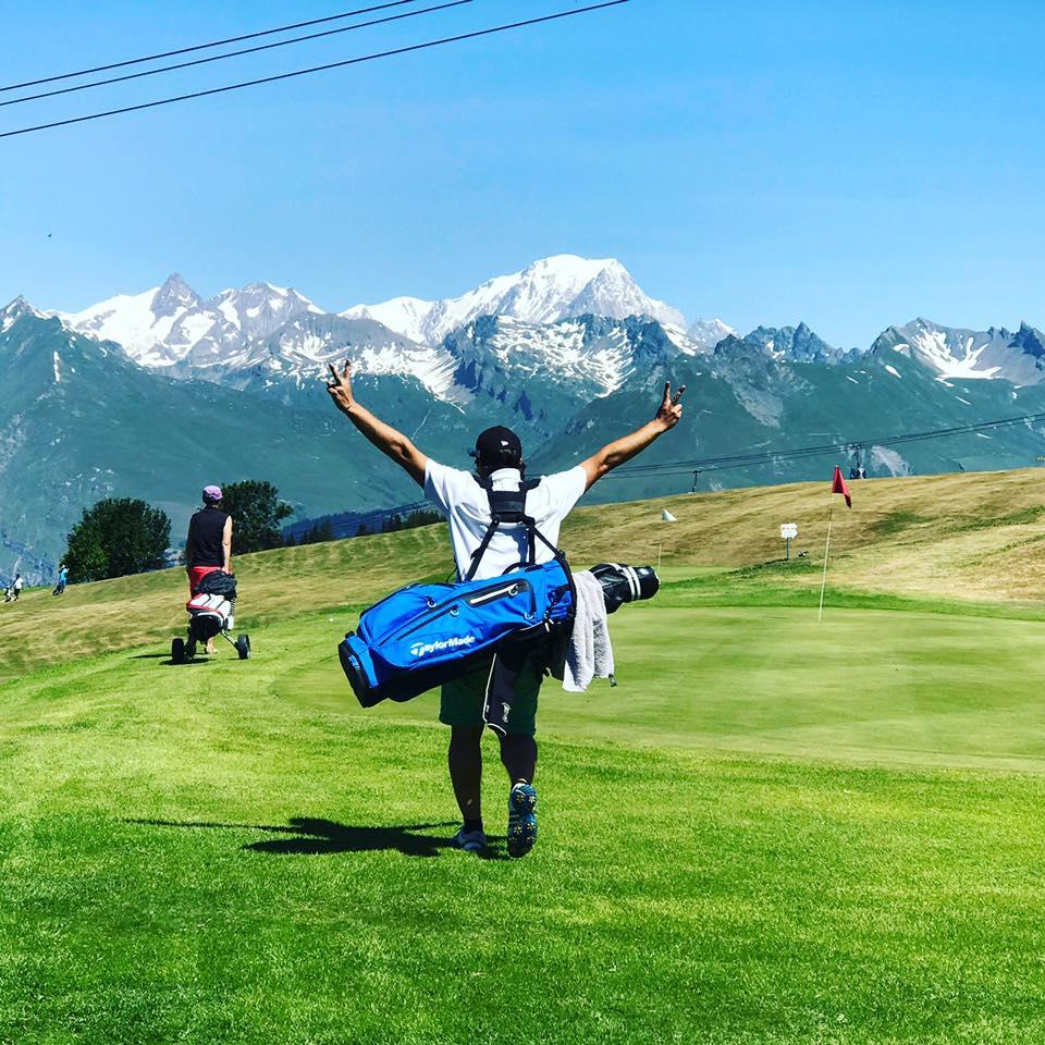 Joueurs de golf Les Arcs Parcours