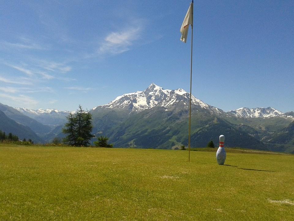 Montagne green La Rosière parcours de golf