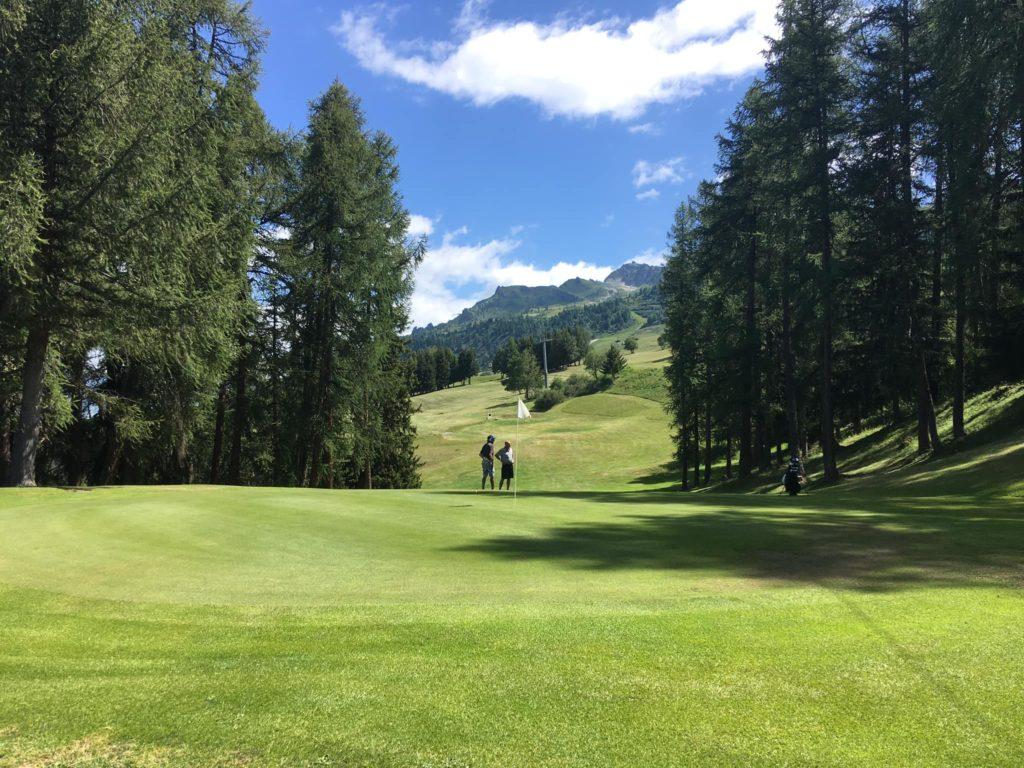 Parcours du golf de Tignes