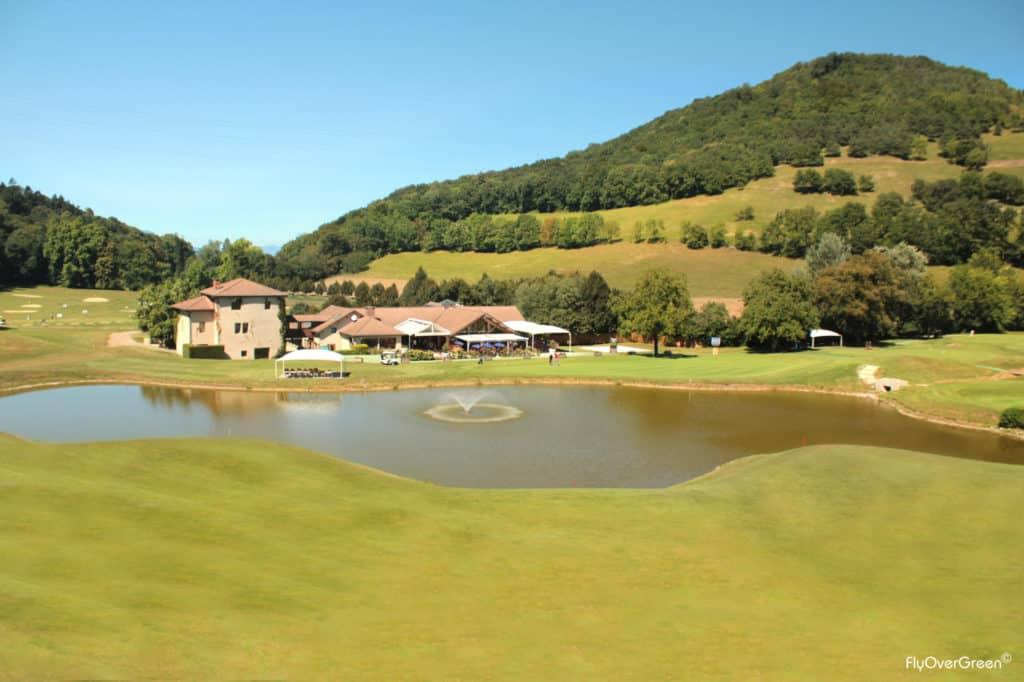 Golf International De Grenoble trou 18 clubhouse