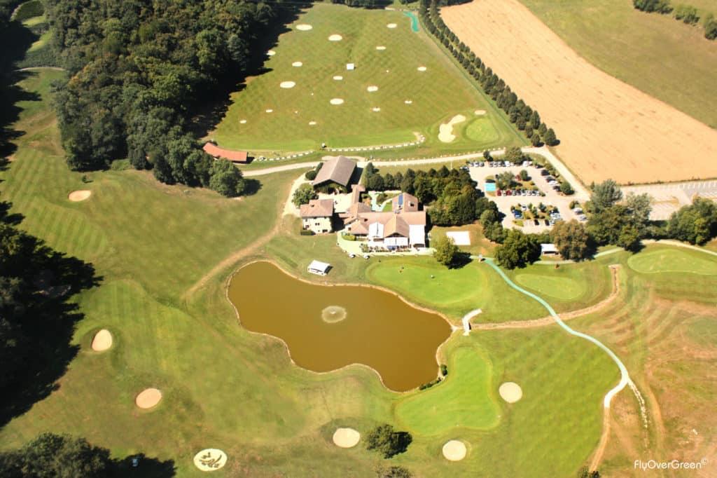 Golf International De Grenoble vue aerienne flyovergreen drone partenaire Lecoingolf