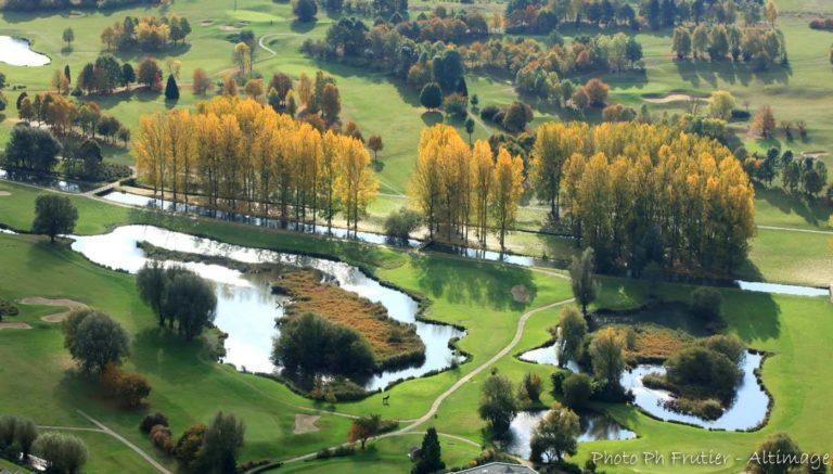 Golf Arras aerial view