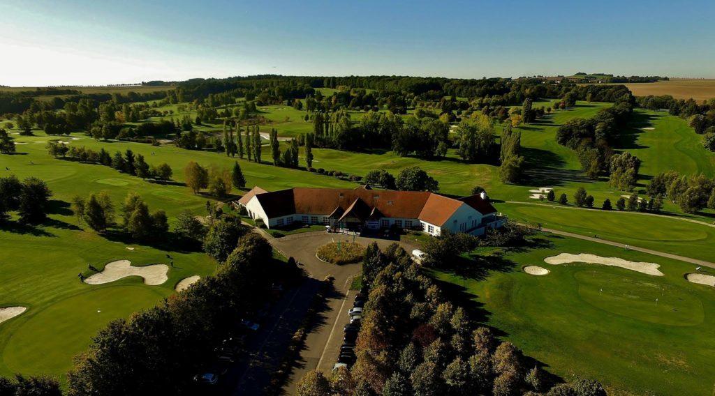 vue aérienne golf de Bellefontaine