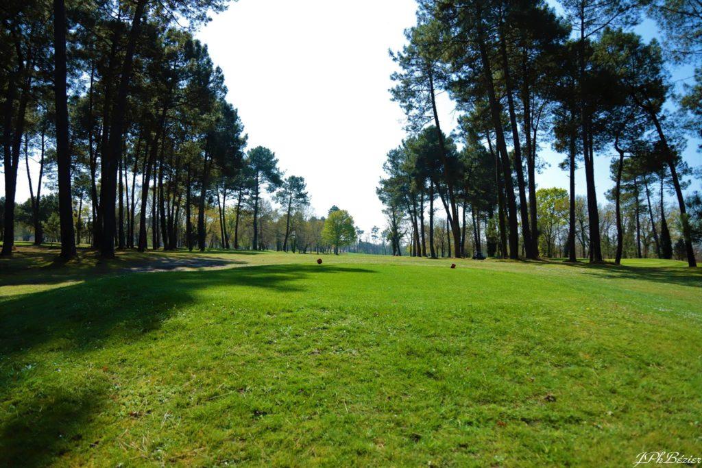 Départ parcours golf
