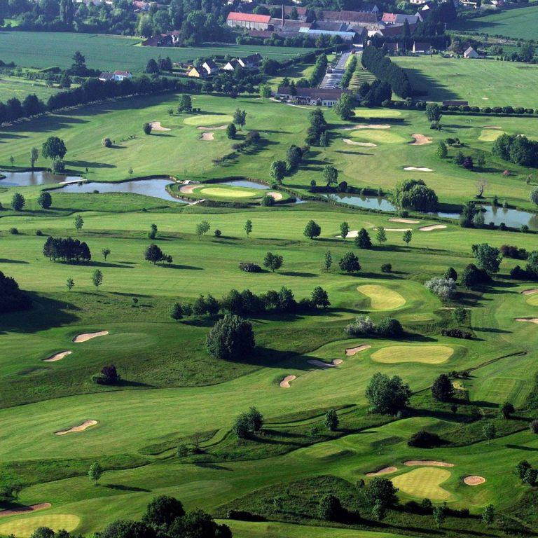 Golf des Templiers aerial view