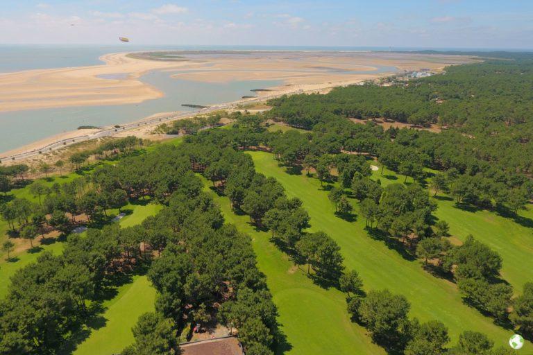 Golf la palmyre vue aérienne