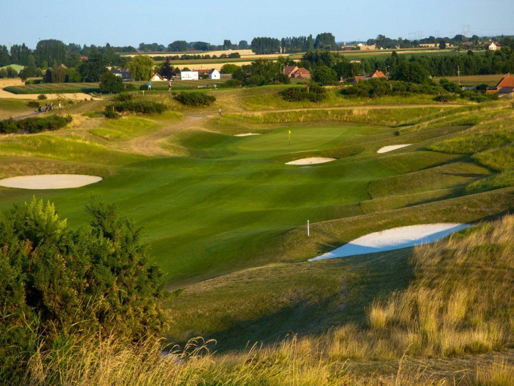 parcours de golf trou 8