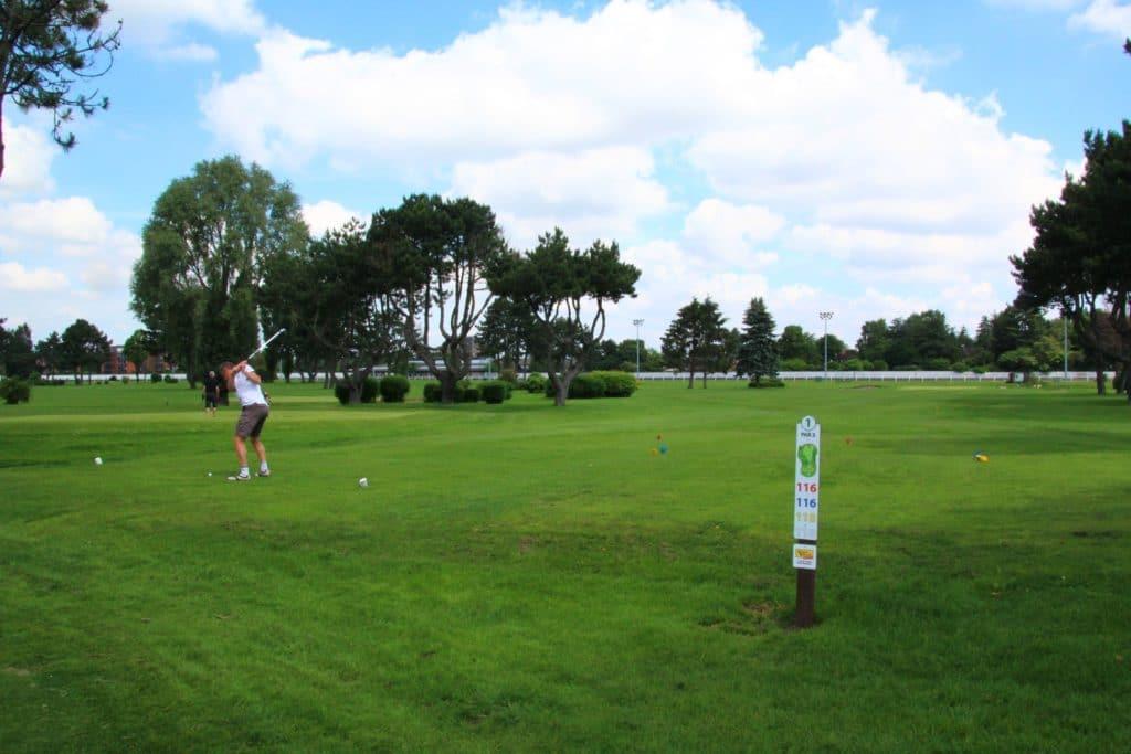 Joueur de golf Golfeur Flandres