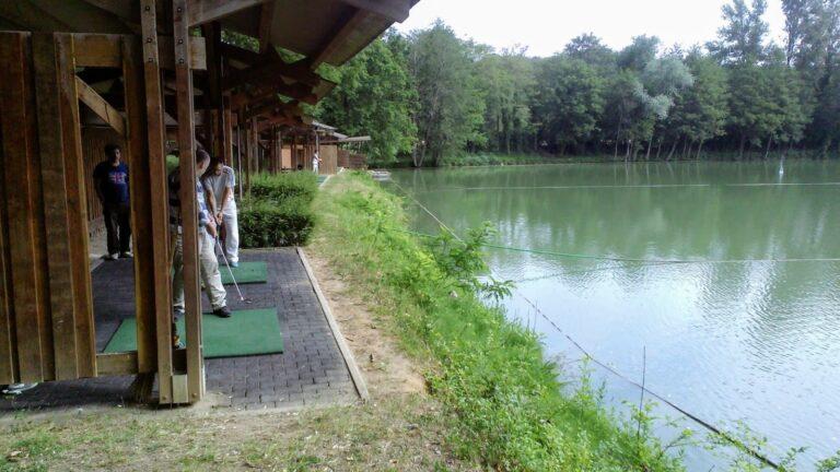 Practice sur eau Bois le roi golf