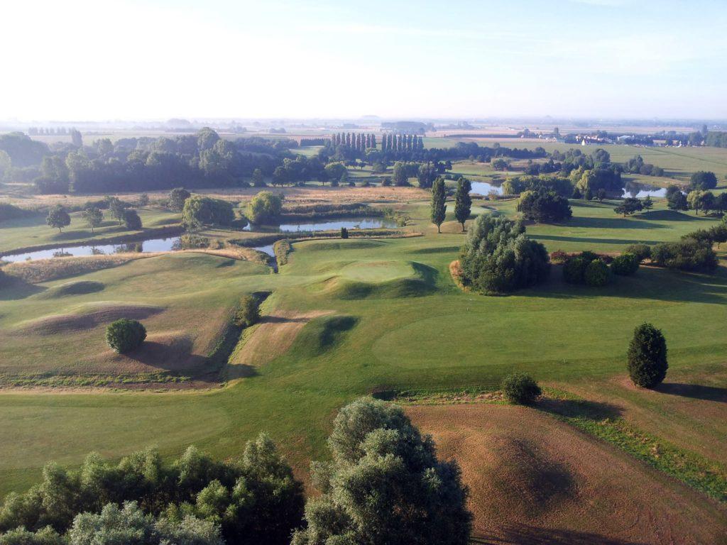 vue aérienne golf le vert parc