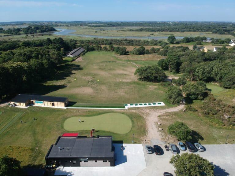 Drone-vue aerienne- Golf de Vannes Atlantheix