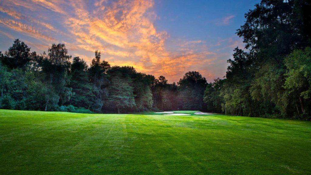 Golf de Domont Montmorency Club-house coucher de soleil