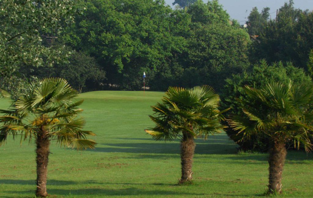 La Corbinais palm trees golf course in Brittany