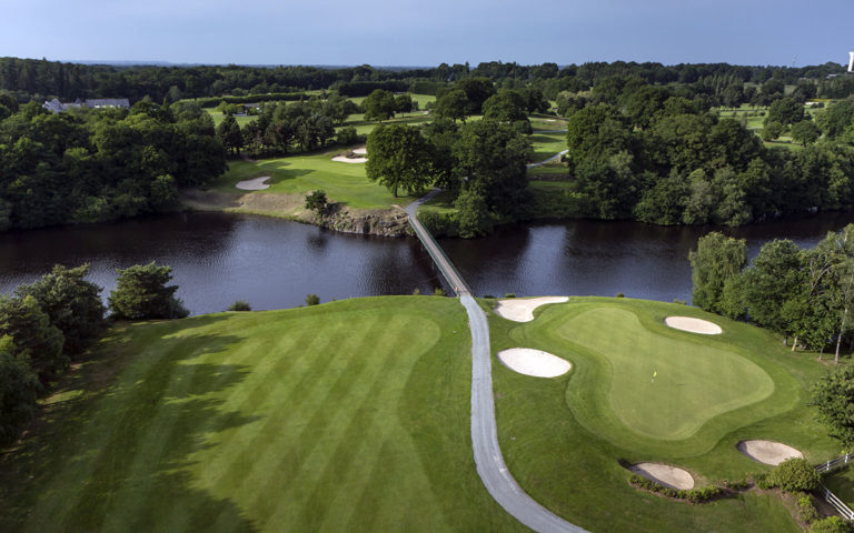 Golf of Saint-Malo aerial view