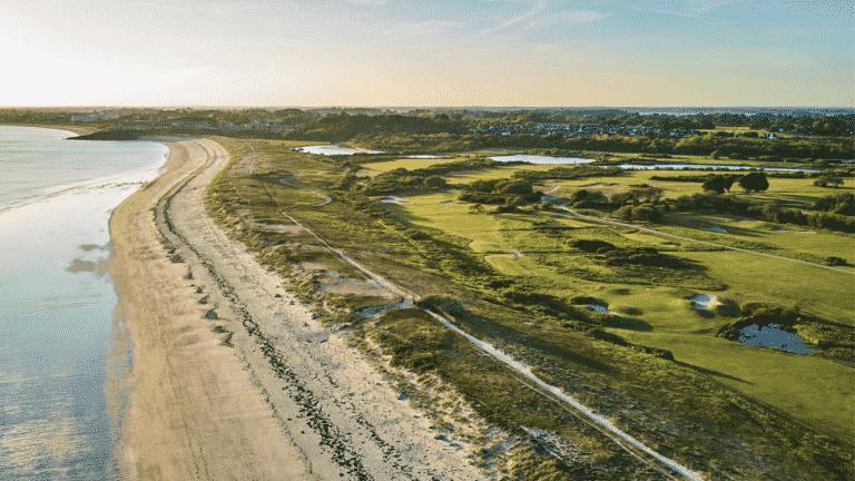 Vue arerienne Golf de Rhuys-Kerver Lecoingolf guide des golfs Bretagne
