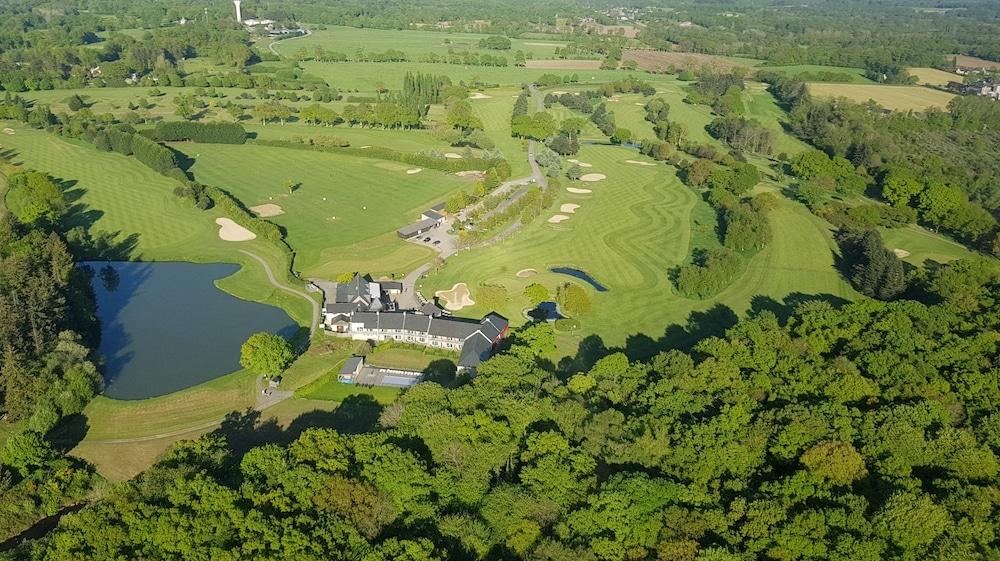 aerial view Golf de Saint-Malo golf course Brittany 18 holes