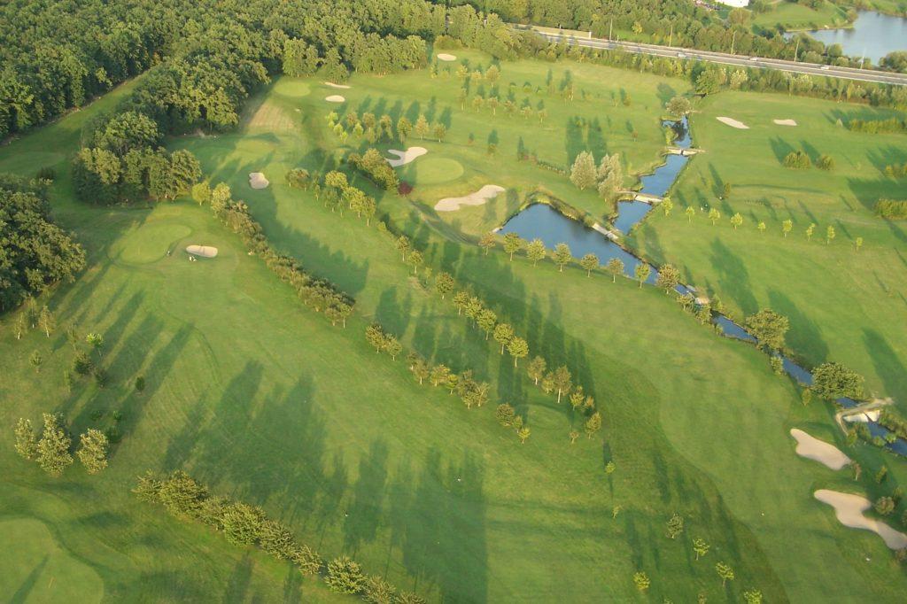 Garden Golf de Metz-Technopole Vue aerienne du parcours 18 trous