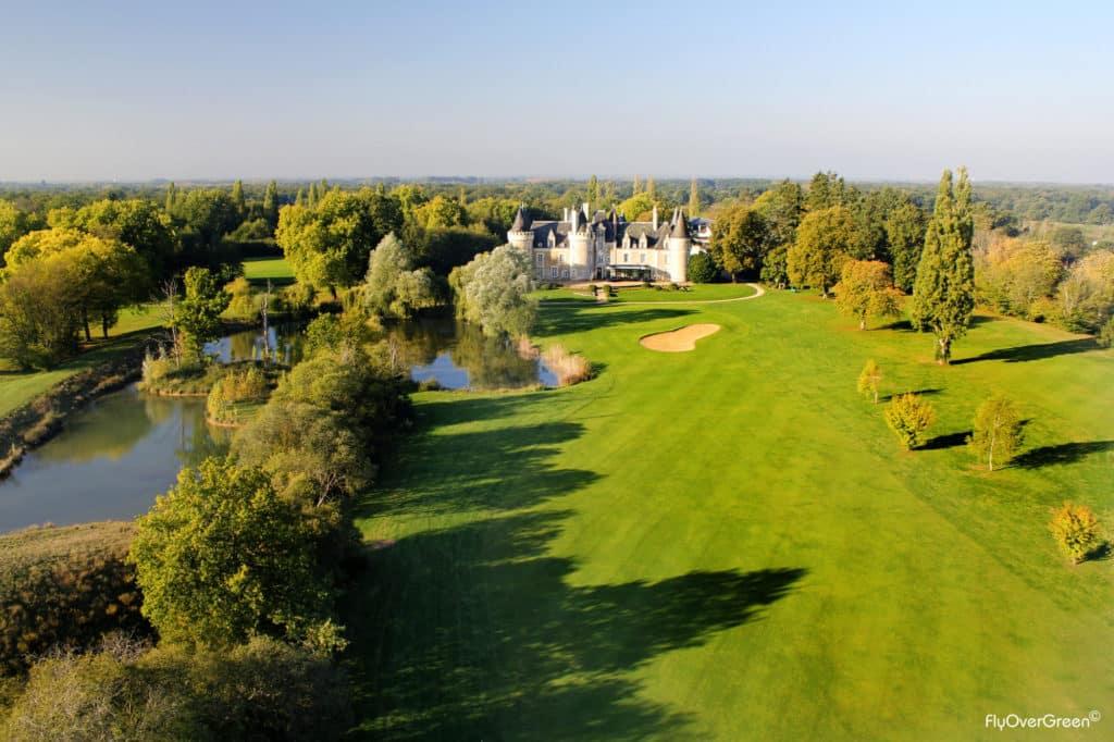 Golf Du Chateau Des Sept Tours green du 18 vue aerienne