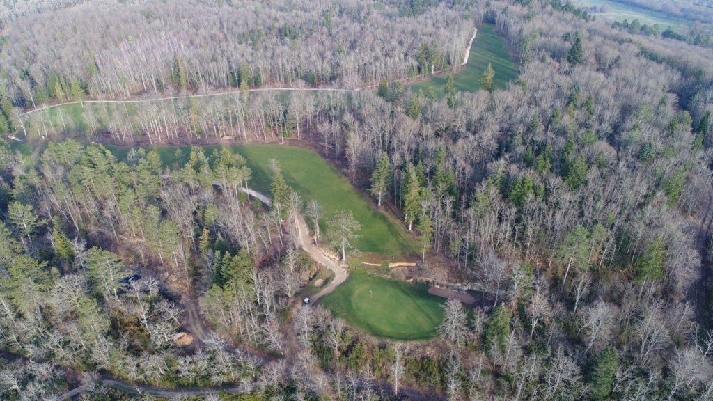 vue aérienne du parcours