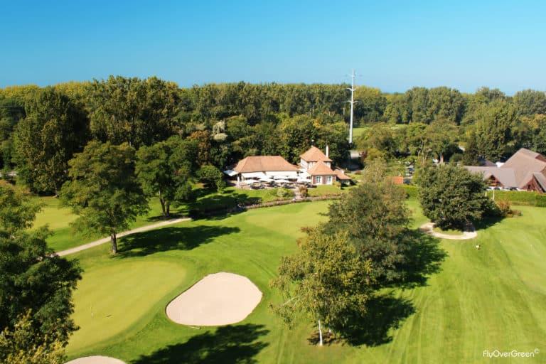 Golf de Strasbourg Club-house green du 18 vue aerienne