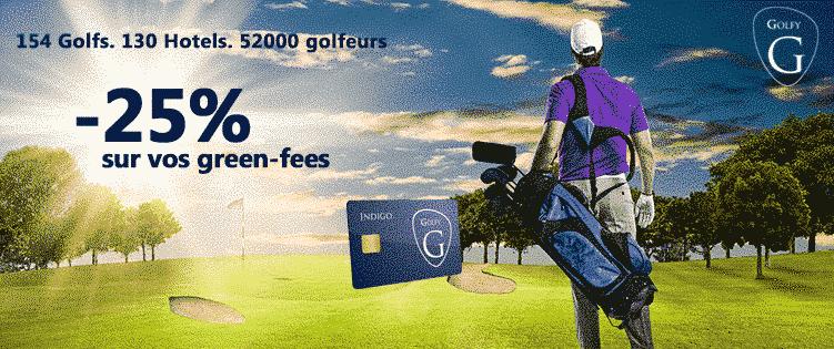 Golfy Promotions Greenfee séjour vacances golf