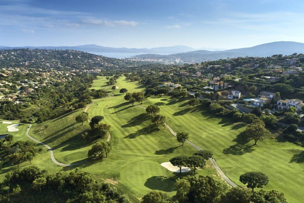 Parcours de golf BlueGreen Vue aerienne