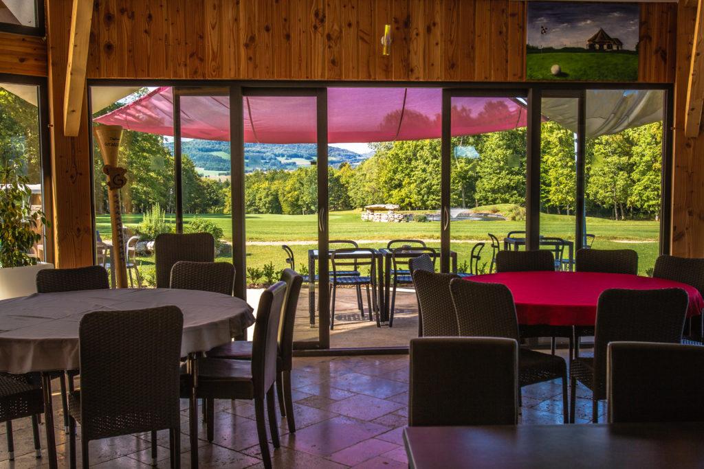 Restaurant golf de la Chassagne Salle Terrasse panoramique
