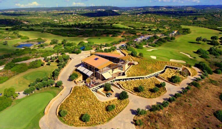 Espiche Golf Lagos, Portugal Vue aerienne du Parcours