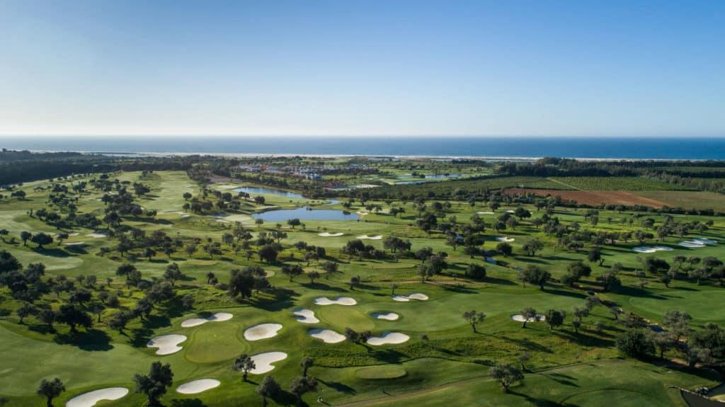 Golf Quinta da Ria Vila Nova de Cacela, Portugal Algarve vue aerienne du golf