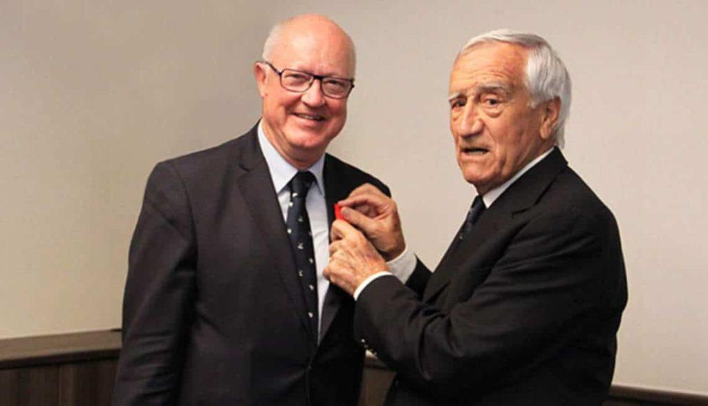 Jean-Lou Charon president ffgolf et Jean Garaïalde golfeur france