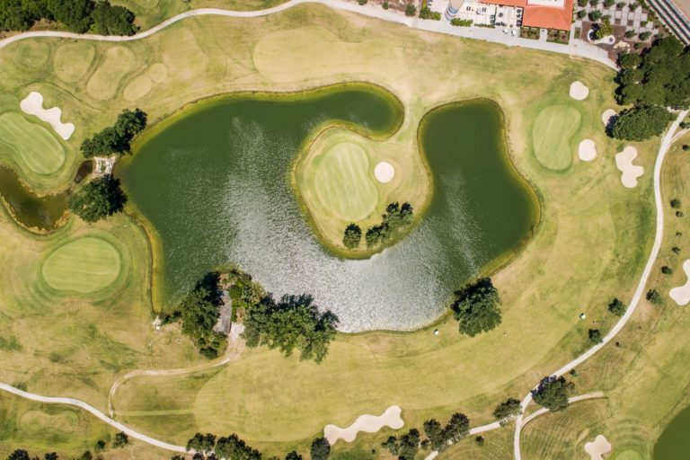 Montado Hotel and Golf Resort Palmela, Portugal Vue aerienne du parcours