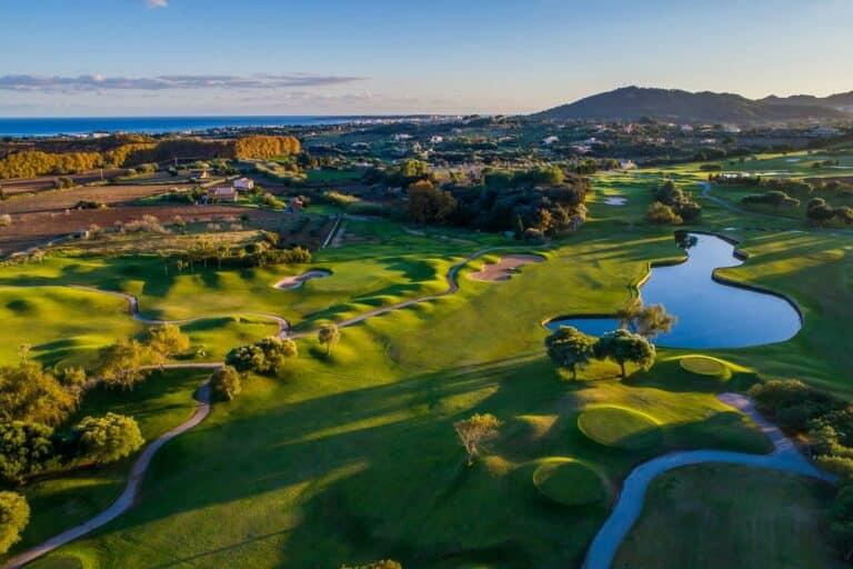 Pula Golf Resort vue aerienne du parcours