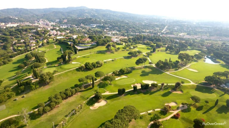 Club De Golf Llavaneras vue aerienne