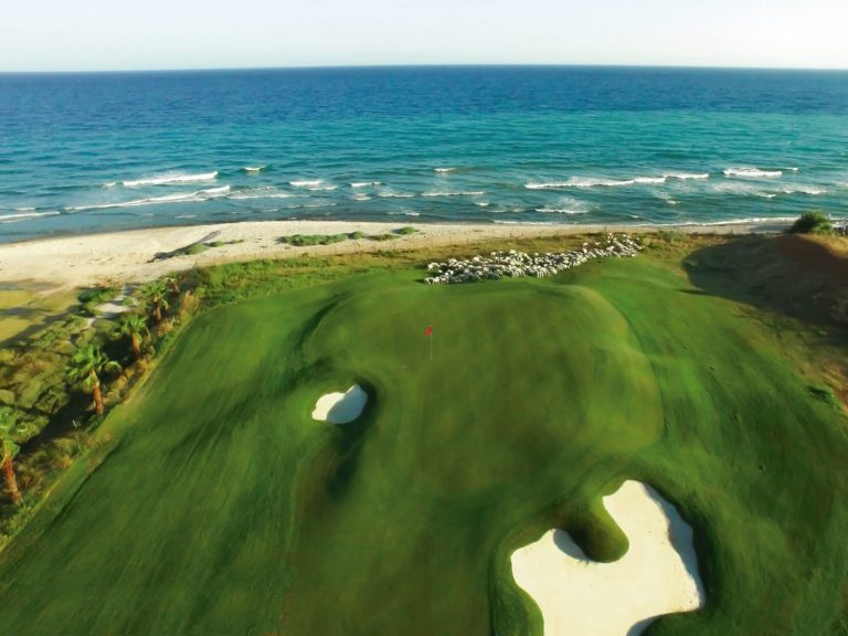 Club de Golf Terramar Vue mer green fairway bunker