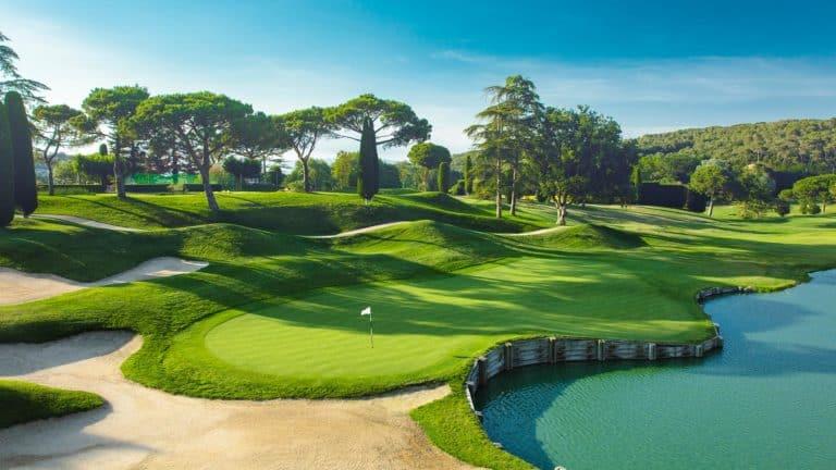 Club de Golf Vallromanes green 18