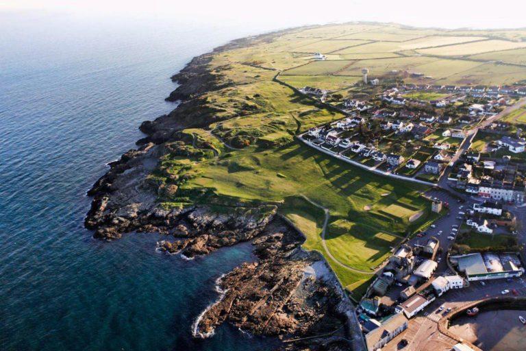 Ardglass Golf Club Vue aerienne du parcours de golf