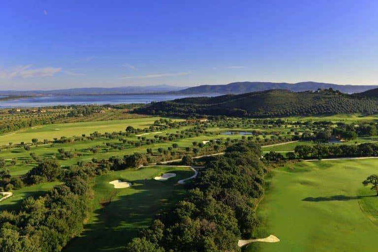 Argentario Golf Resort & Spa Vue aerienne du parcours