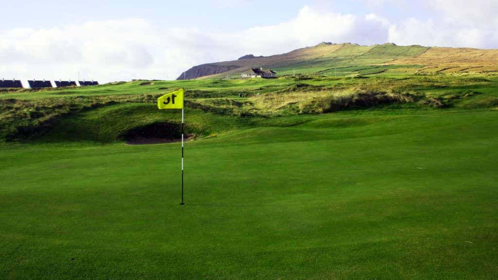 Ceann Sibéal Dingle Links Golf Club green du 18