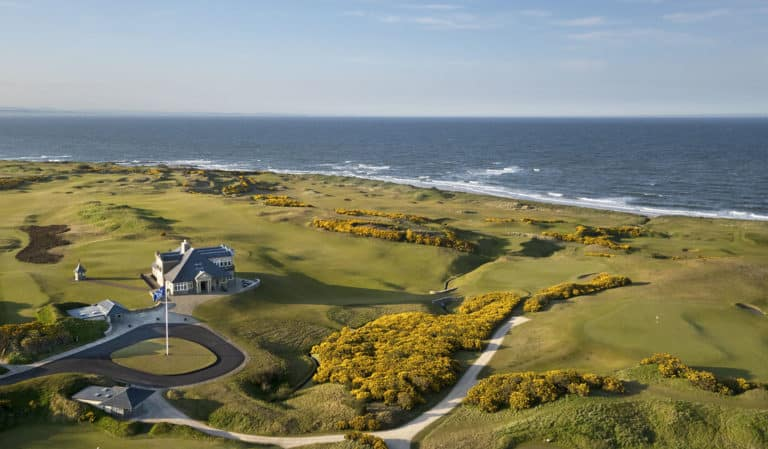 Kingsbarns Golf Links Club-House vue Mer Parcours de golf Ecosse