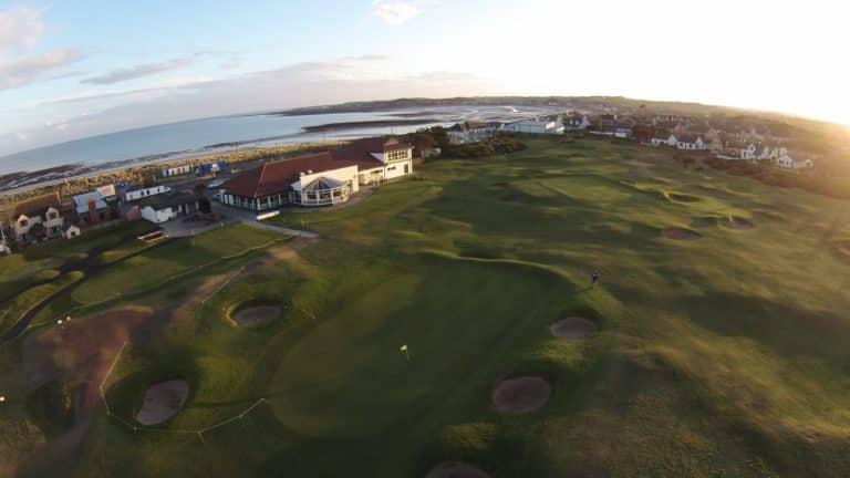Kirkistown Castle Golf Club Vue aerienne du Parcours de golf