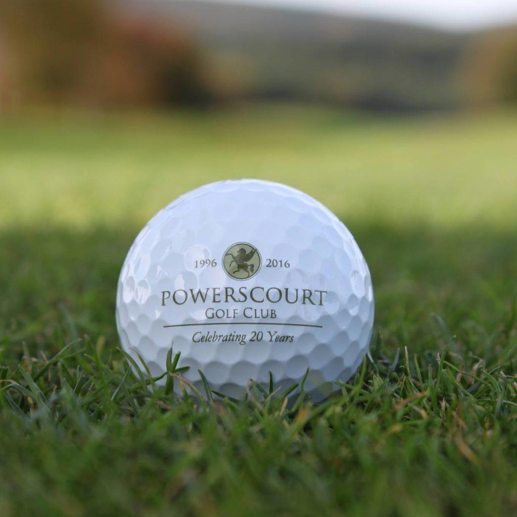 Powerscourt Golf Club Balle de golf logo