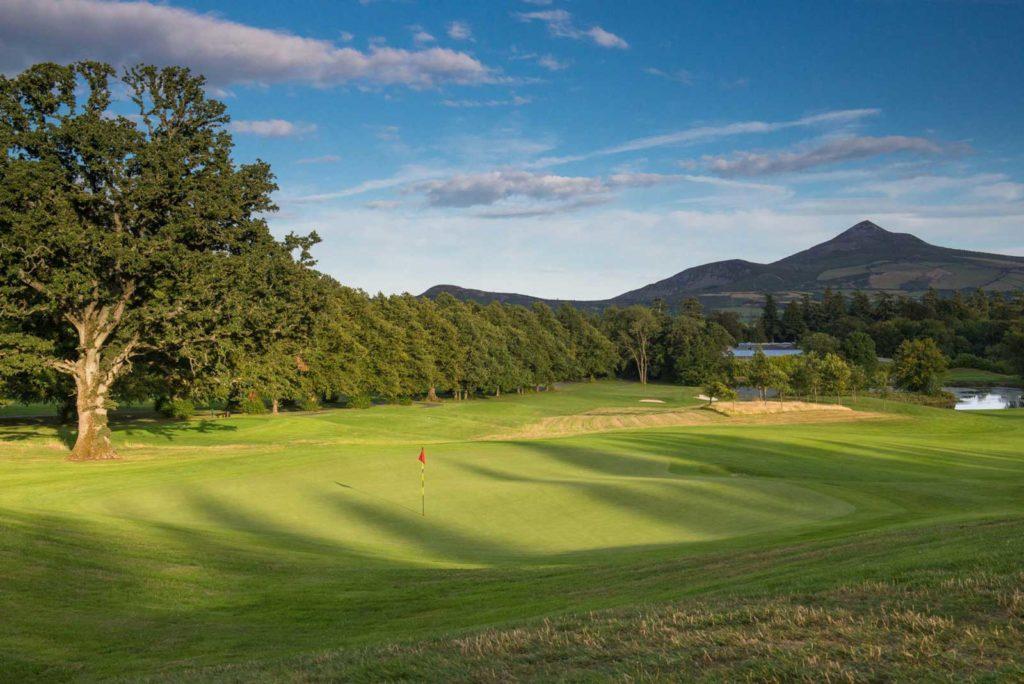 Powerscourt Golf Club Vue montagne irlande voyage sejour golf
