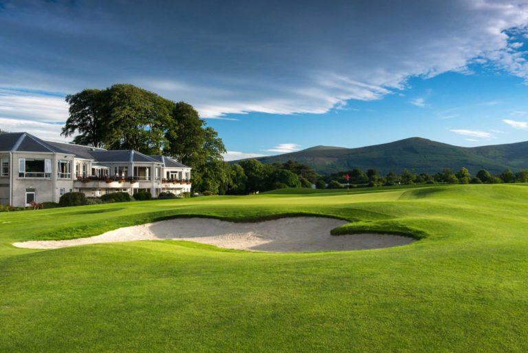 Powerscourt Golf Club Vue montagne irlande voyage sejour golf Booking